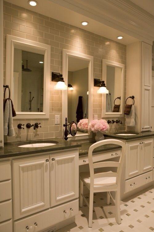 Vanity Sit Down Area In The Bathroom Dream House Pinterest