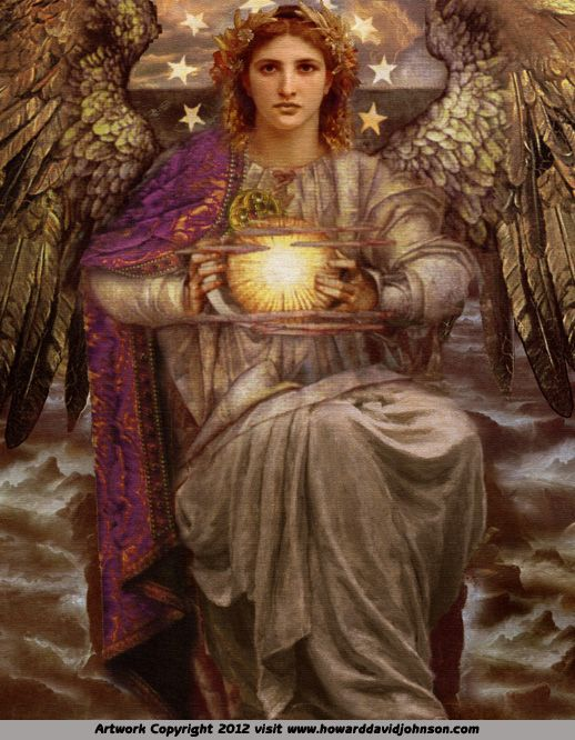 The Angel of Prophecy [Painting by Howard David Johnson]