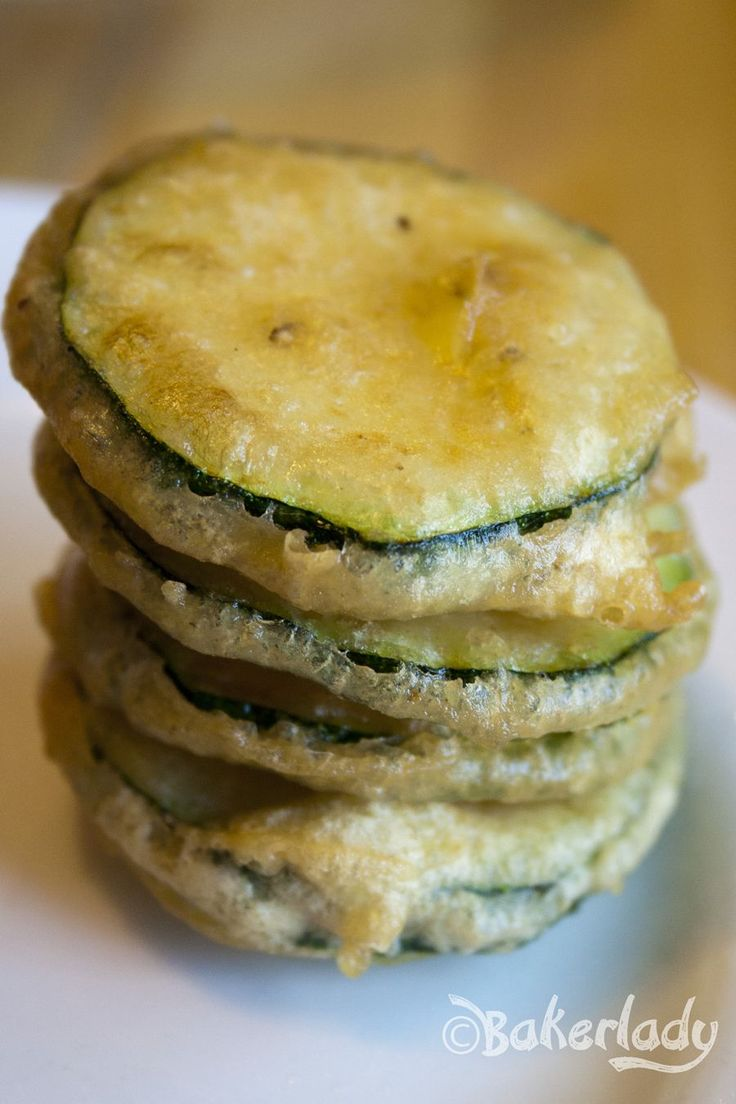 Light as Air Fried Zucchini (or whatever you want to fry to golden perfection) Batter - Bakerlady