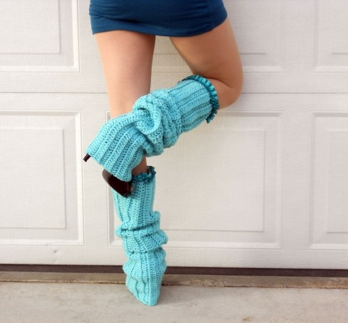 Free Crochet Pattern Thigh High Leg Warmers : 17 Best images about Crochet Leg Warmers on Pinterest ...