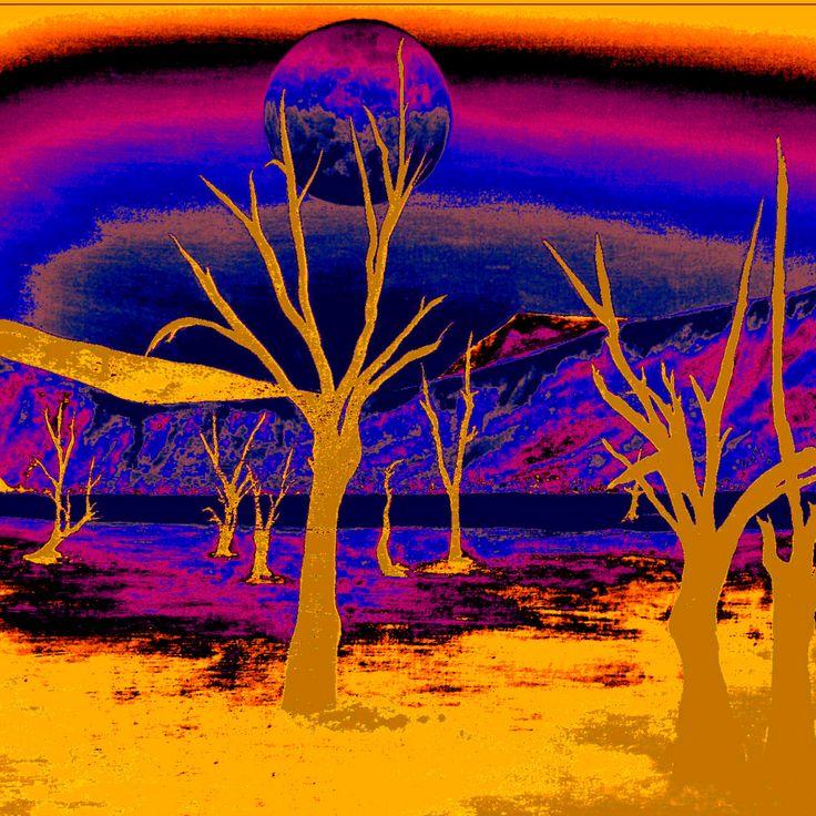 """""""Alien Landscape - Gold"""" by Eileen Frost"""