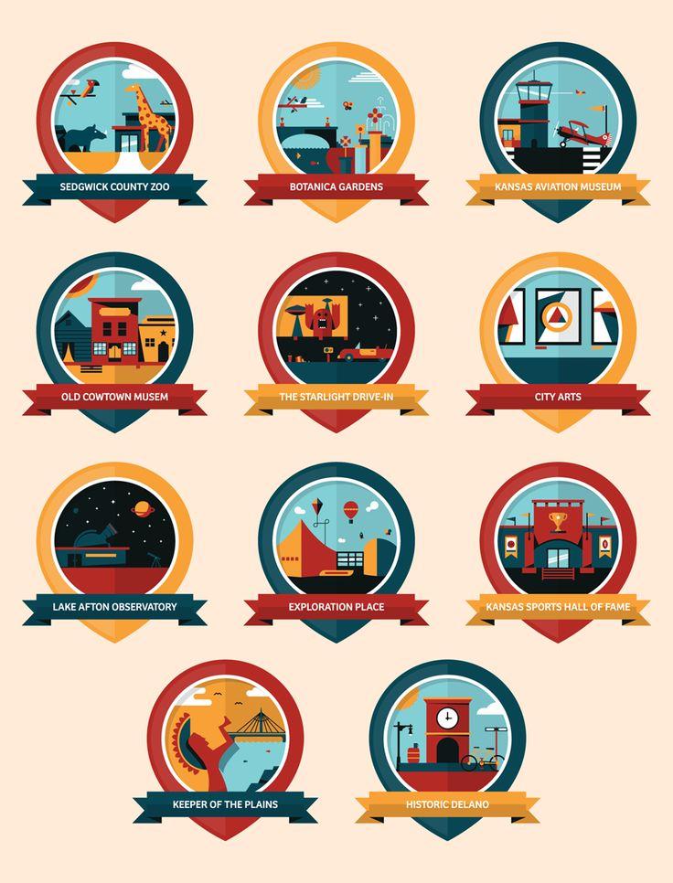 Illustrate a Series of Icons or Badges using Basic Geometric Shapes - Skillshare $20