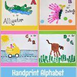 Handprint Alphabet Crafts | Letter A, B, C, & D