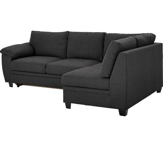 Buy Argos Home Fernando Right Corner Fabric Sofa Bed Charcoal Sofa Beds Corner Sofa Bed Uk Fabric Sofa Bed Charcoal Sofa