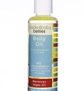 The Made4Baby Belly Oil is a fragrance free nurturing blend which includes the amazing Argan Oil produced by a woman's co-operative in Morocco.  Absolutely beautiful to use and ideal for pregnancy stretch marks as well as dry and sensitive skin.  $19.95 each from http://squoodles.co.nz
