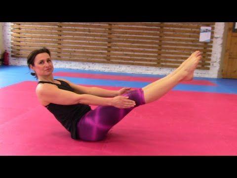 Posilování břicha, ale klepat se vám budou i nohy - YouTube