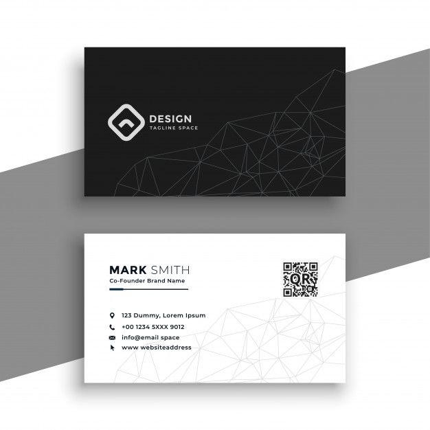 Download Simple Black And White Business Card For Free Free Business Card Templates Business Card Design Minimalist Free Printable Business Cards