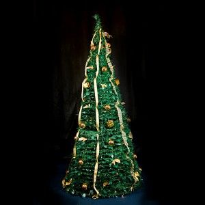 30 Second Collapsable Green/Gold Christmas Tree