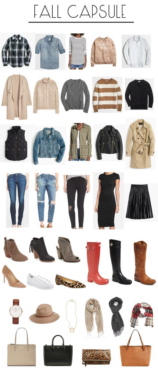 building a fall capsule wardrobe.