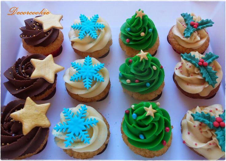 Cupcakes navideños para regalar