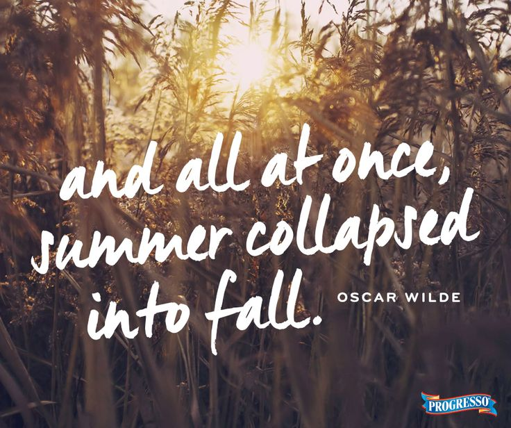 Summer Come Back Quotes: And All At Once, Summer Collapsed Into Fall. -Oscar Wilde