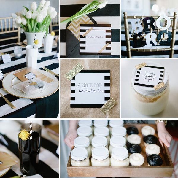 125 Best Black, White & Gold Baby Shower Images On