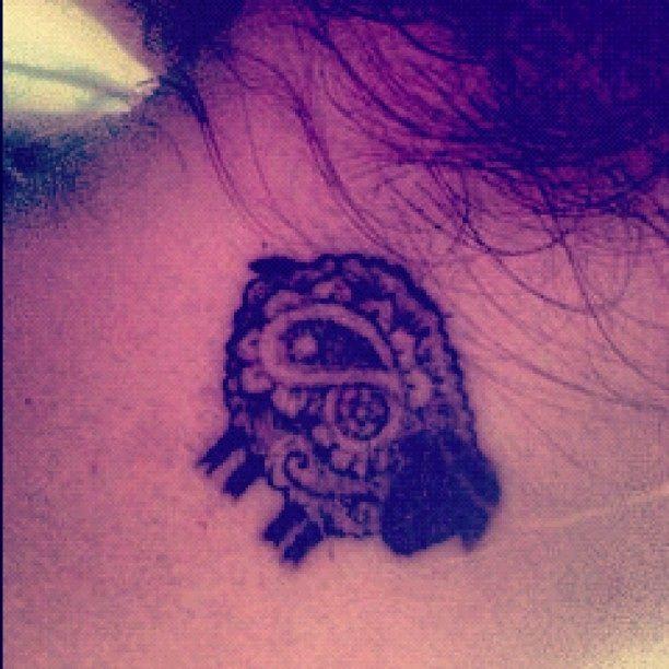 Black sheep tattoo paisley