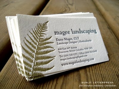 82 best business card designs images on pinterest business card above is a photo of custom letterpress business cards we designed and printed for local landscape designer dana magee dana and her husband colourmoves