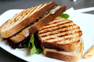#recette #panini #bbq au bacon, poulet, gouda