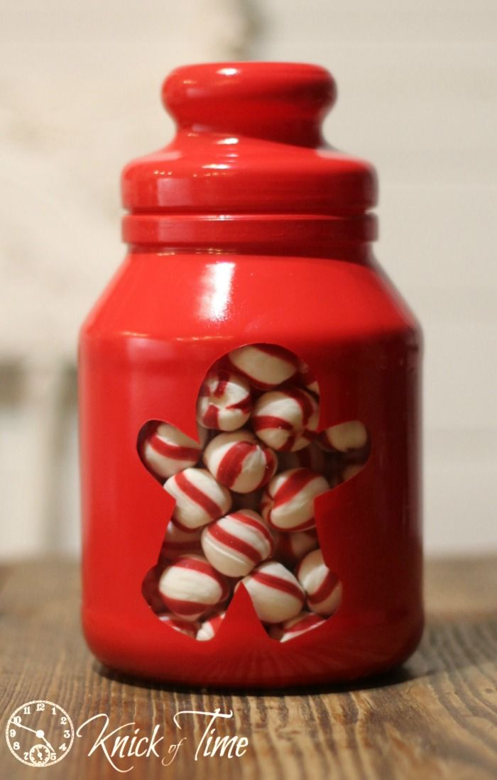 Gingerbread Man Painted Jar - Knick of Time