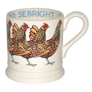 Hens Gold Sebright 1/2 Pint Mug