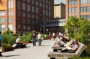 Chelsea's Highline Park, New York - in the heart of the city where we life