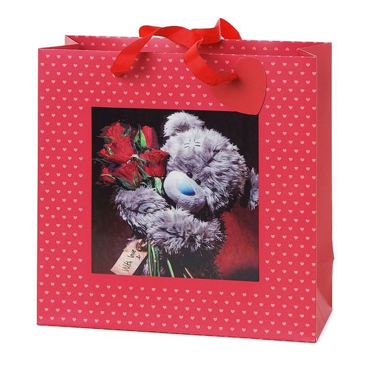 Medium 3D Holographic Red Roses Me to You Bear Gift Bag £3.99