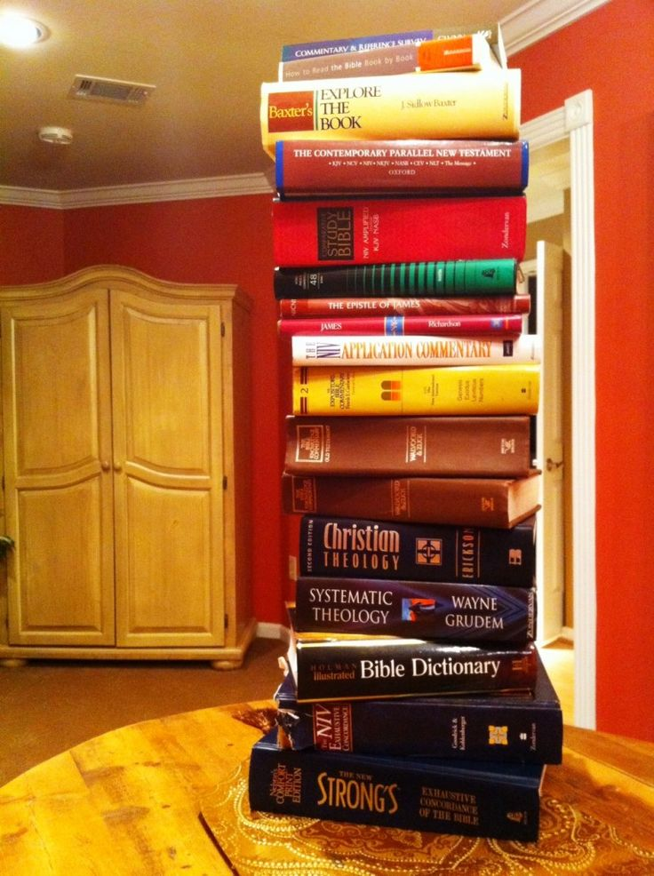 ✞❣ Beth Moore's suggestions for a beginner Bible study library.