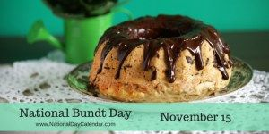National Bundt Day November 15