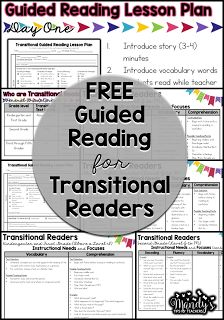 Mandy's Tips for Teachers: The Next Step in Guided Reading Chapter 5 (Transitional Readers)