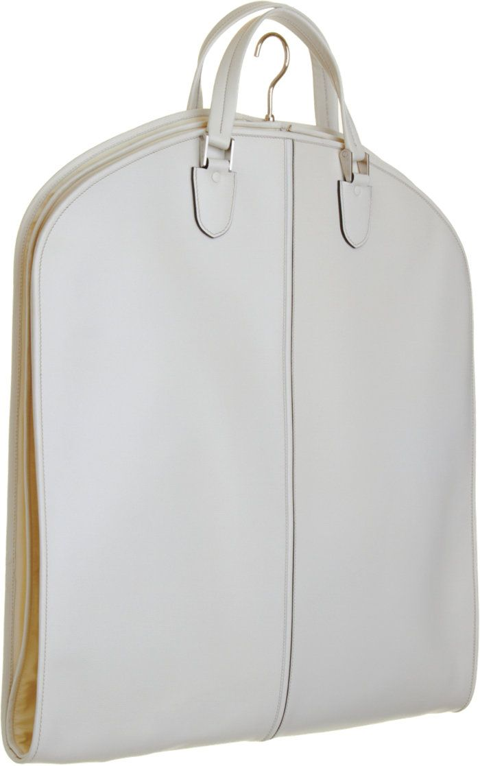 Val extra white leather garment bag                              …