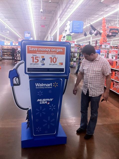 Walmart Gas Pump Floor Display