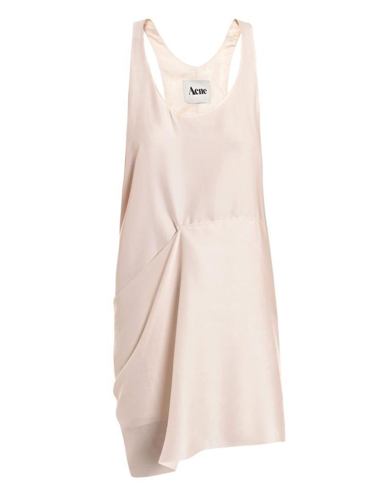 Light pink gathered asymmetrical dress #minimalist #fashion #style