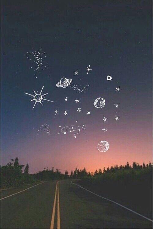background, doodle, night, sky, space, wallpaper, lock screen