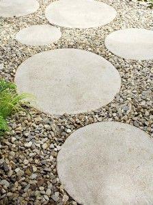 DIY ronde beton tegels maken
