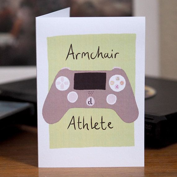 Armchair Athlete Card Fathers Day Funny Dad Birthday Gamer Teen Boy Gift