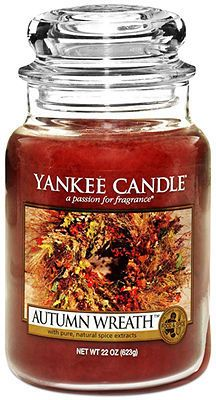 Yankee Candle Autumn Wreath Large Jar - favorite Yankee of all time!
