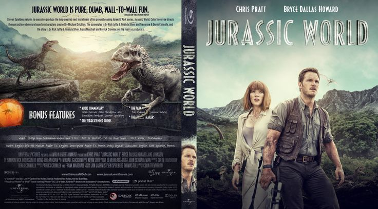 Jurassic World Blu-ray Custom Cover