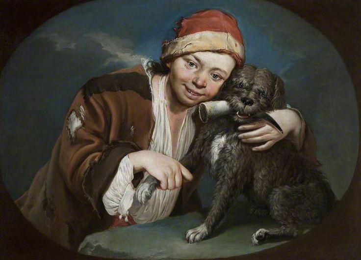 Boy with a Dog by Giacomo Ceruti (Italian 1698 – 1767)