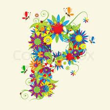 Image result for designing letters with flower designs P