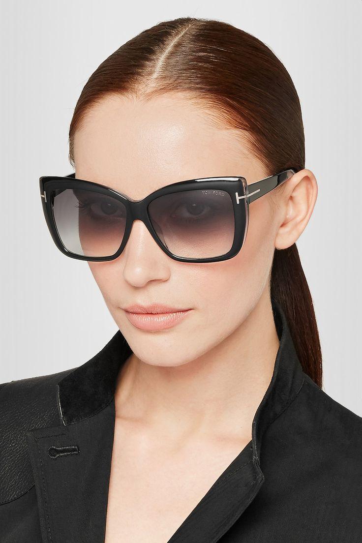 Tom Ford Irina Square Frame Acetate Sunglasses Net A
