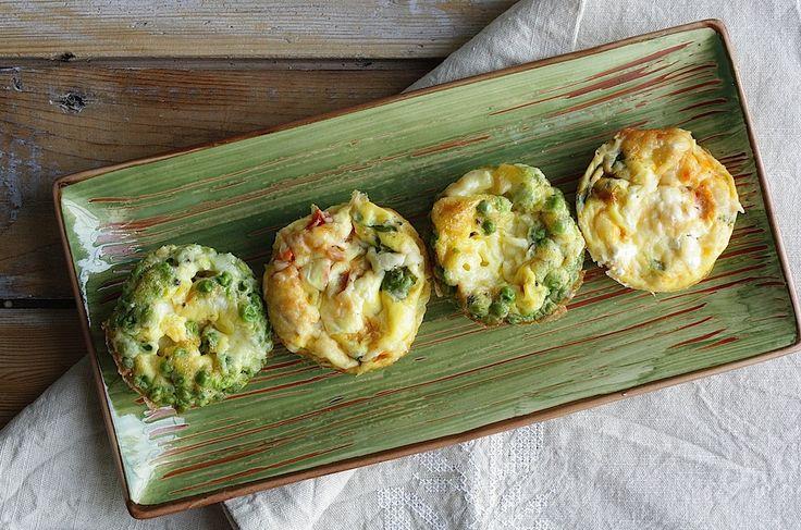 Restjes groenten, kaas, kip of bonen in huis? Maak er dan in een handomdraai deze heerlijke ei muffins van. Bekijk hier het recept.