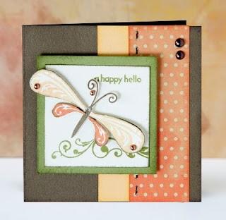 """""""Happy Hello"""" card idea from #CTMH."""