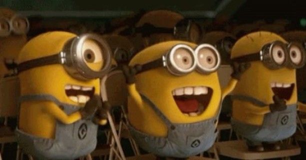 Literally us tonight as the opening credits begin to roll for @despicableme 3 ‼️