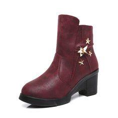 #Banggood Сторона молния украшение звезда мягкая подошва подкладка хлопка лодыжки короткие сапоги для женщин (1098170) #SuperDeals