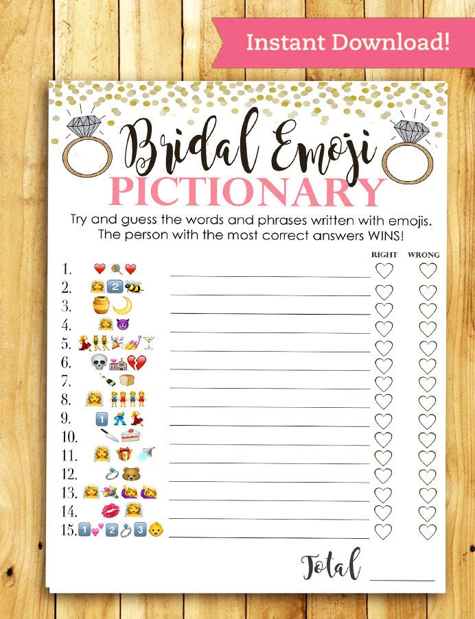 Witty image with bridal shower games free printable
