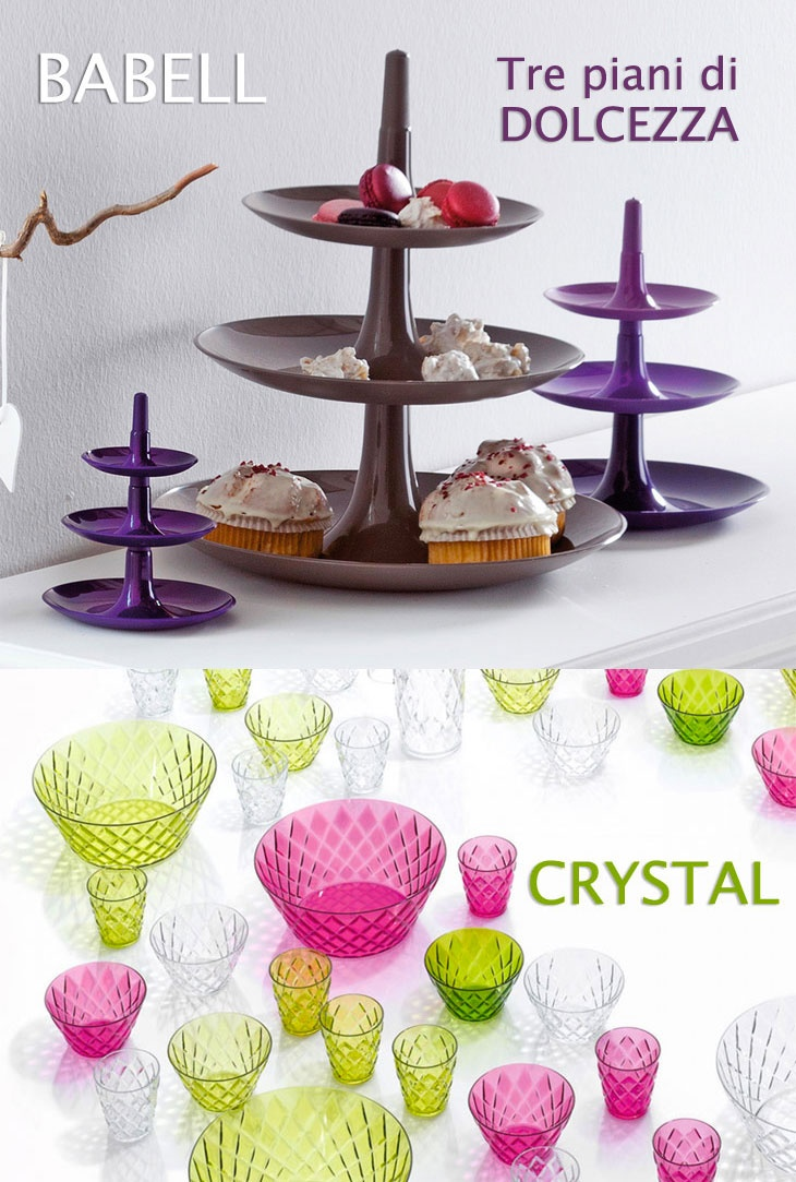 Did you know KOZIOL? It is a german label proposing colourful and resistan piece of furnitures, like Crystal and Babell. You'll find them here: http://www.cbstudio.net/kitchenware/babell.html http://www.cbstudio.net/outdoor/crystal.html