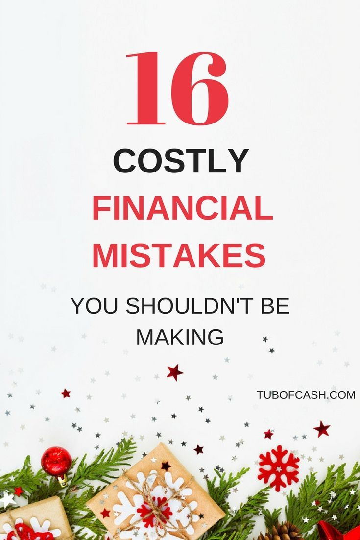 costly financial mistakes you make