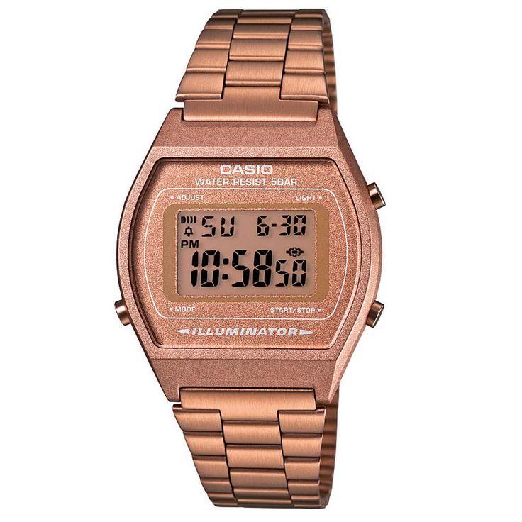 Relógio Feminino Digital Casio B640WC5ADF - Rose | CasasBahia.com.br