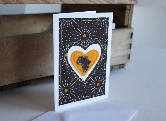 I Love Africa Brown and Yellow Shweshwe by luvieduviehandmade