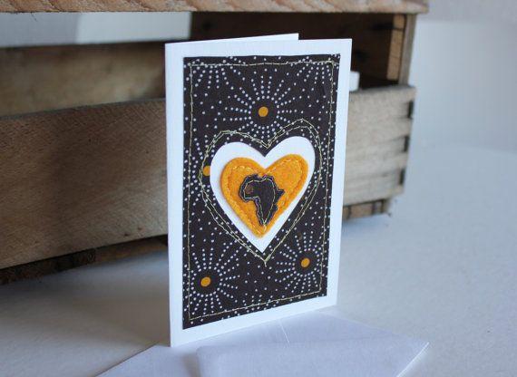 I Love Africa Brown and Yellow Shweshwe by luvieduviehandmade