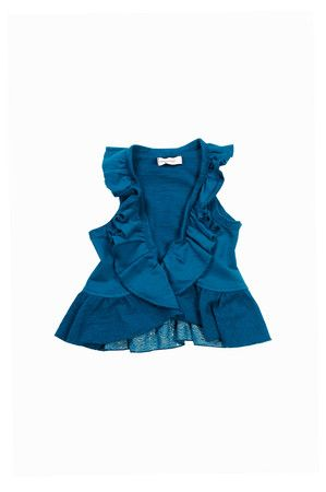 The Lily Slub Ruffle Vest (Little GIrl) by Mimi