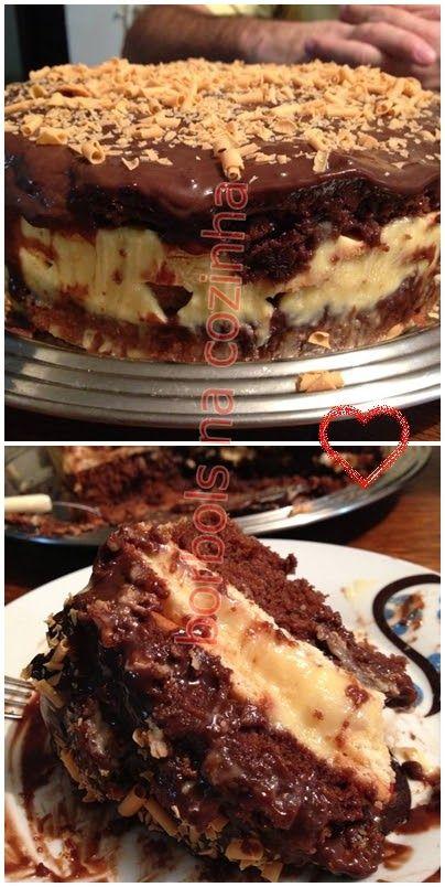 o que dizer sobre esse bolo? rsrsrs>>dois em um <<< Bolo e Pavê, criação minha ....criação de chocólatra rsrsrs super recomendo