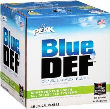 BlueDEF DEF002 Diesel Exhaust Fluid - 2.5 Gallon Jug (4) - Diesel Emissions Fluid; BlueDEF (TM); Compatible With All SCR Systems; 2.5 Gallon Jug.